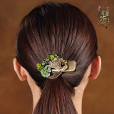 Loulankezhan National Style Peacock Side Clip Ponytail Hairclip Coupon Code
