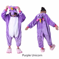 Lovely Purple Unicorn Children Flannel Animal Cosplay Costumes Sleepwear Blanket Sleepers Kids Garment Cartoon Animal Onesies Pajamas Intl For Sale