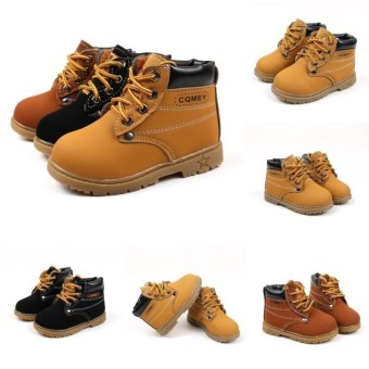 Best Price Lunar Valley 2017 Hot Products For Girls Boys Warm Martin Boots Casual Comfy Shoes Plush Child Baby Toddler Shoe Brand Fashion Child Leather Snow Boots Yellow Eu 24 Plus Velvet Intl