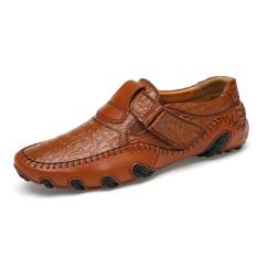 Price Comparisons Luxury Brand Men Shoes Genuine Leather Big Size Men Driving Shoes Good Quality Soft Men Loafers Intl