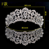 Buy Wang Guan Korean Style Crystal Bridal Luxury Crown Headdress F Paragraph Crown Send Gift F Paragraph Crown Send Gift Oem Cheap