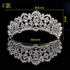 Review Wang Guan Korean Style Crystal Bridal Luxury Crown Headdress F Paragraph Crown Send Gift F Paragraph Crown Send Gift Oem On China