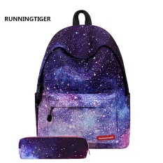 LWS Travel Backpack Sports Shoulder Bag 3D Cartoon School Bag Female Cartoon Lovely Fashion Cool Backpack Purple - intl