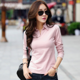 The Cheapest M Tony Nepalese Female New Style Slim Fit Collar Korean Style Cotton Polo Shirt Lotus Pink Online