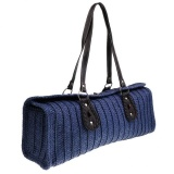 Magideal Women S Classic Straw Summer Beach Sea Shoulder Bag Handbag Tote Blue Intl Sale