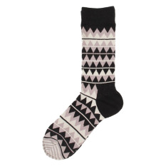 Compare Prices For Mailsox 9 Grey Black Aztec Design Socks
