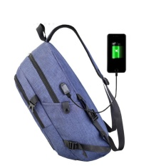 Compare Price Makiyo Korea Men Women Canvas Waterproof Laptop Backpack With Usb Charging Port Campus Student Schoolbag Travel Bag Blue Intl Sunshop On China