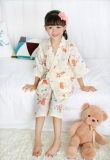 Male Girls Sweat Steaming Clothes Kimono Summer Cotton Gauze Pajamas Thin Section Casual Tracksuit Japanese Style New Style Girls On China