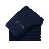Review Men Spring And Autumn Business Casual Pants Pants Dark Blue Color Dark Blue Color Other