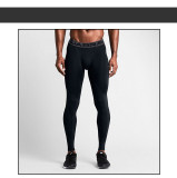 Coupon Man Compression Training Gym Elastic Pro Tights Men Pants Black