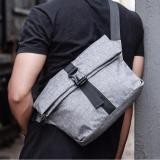 Price Compare Man Fashion Outdoor Messenger Bag Charcoal Color