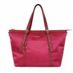 Mango Classy Nylon Tote Bag Red On Line