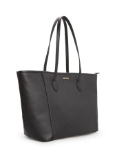 Top Rated Mango Cosmopolitan Shoulder Zip Tote Bag Black