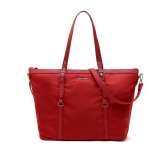 Mango Nylon Shoulder Tote Bag With Sling Strap Red Coupon