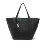 Cheapest Mango Python Textured Tote Bag Black