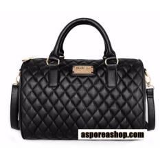 Mango Touch Quilted Style Hand Bag With Sling Strap Black Shopping