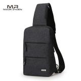 Promo Mark Leiden Chest Pack Men Outdoor Riding Small Backpack Men S Bag Shoulder Bag Messenger Bag Fashion Casual Man Bag Elite Black