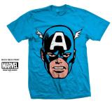 Buy Marvel Comics Unisex Tee Captain America Big Head Singapore