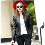Marvogo New Fashion Women Slim Motorcycle Jacket Biker Coat Leather Jackets Short Outerwear Coat Black Intl Sale