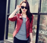 Sale Marvogo New Fashion Women Slim Motorcycle Jacket Biker Coat Leather Jackets Short Outerwear Coatred Intl