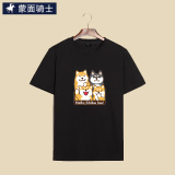 Compare Speaks Korean Style Summer Student Card Dog T Shirt T 116 Four Dog Black