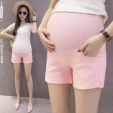 Top Rated Maternity Cotton Short Pants Summer For Pregnant Women Plus Size Clothing Pregnancy Clothes Shorts Belly Skinny Cotton Pink Intl