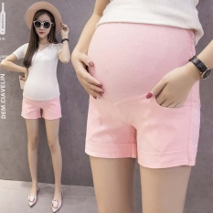 Buy Maternity Cotton Short Pants Summer For Pregnant Women Plus Size Clothing Pregnancy Clothes Shorts Belly Skinny Cotton Pink Intl Oem Original