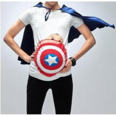 Review Maternity Dress Captain 3D Fashion Digital Print New Style T Shirt Intl Oem On China