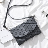 Sale Matte Designer Women Evening Bag Shoulder Bags Girls Bao Bao Flap Handbag Fashion Geometric Baobao Casual Clutch Messenger Bags(Grey) Intl Oem On Singapore