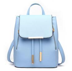 Max Collection Women Leather Shoulder Bag Ladies Backpacks Travel Bag Blue Intl Online