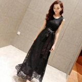 Price Maxi Dress In Women Dress With Black Waist Tie Evening Dress Black Intl Oem Online
