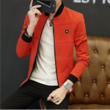 Shop For Men 2017 Korean Baseball Solid Color Jackets Casual Bomber Jackets Intl