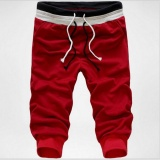 Review Men 3 4 Knee Jogger Casual Sport Shorts Baggy Gym Harem Rope Pants Trouser Intl On China