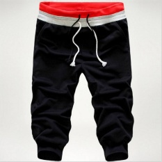 Best Price Men 3 4 Knee Jogger Casual Sport Shorts Baggy Gym Harem Rope Pants Trouser Intl