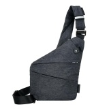 Discount Men Anti Theft Chest Bag Casual Outdoor Riding Pack Messenger Bag Grey Left Shoulder Intl Any4You