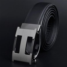 Men Automatic Buckle Leather Belts K95 130cm - intl (Black Int: One size)