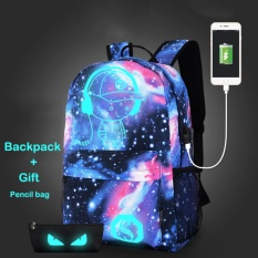 Men Backpack Fashion External Usb Charging Laptop Backpack Student Luminous Sch**l Bags For Teenagers Intl For Sale Online