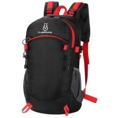 Men Backpack Travel Women Nylon Waterproof High Capacity Mountaineer Bags Black Intl Promo Code