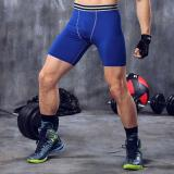 Cheap Men Base Layer Compression Shorts Pant Jogging Gym Fitness Running Sports Tights Basketball Blue Intl