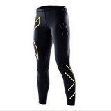 New Men Bodybuilding Trousers Pants Sports Tights Fitness Clothes Running Clothes Riding Clothes Fast Dry Trousers Compression Gold Intl