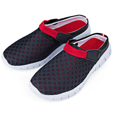 Men Breathable Mesh Clogs Beach Slippers Blue Red Online