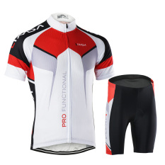 Men Breathable Quick Dry Comfortable Short Sleeve Jersey Padded Shorts Cycling Clothing Set Riding Sportswear (export) By Tomtop.