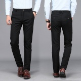 Cheapest Men Business Casual Elastic Suit Pant Slim Non Iron Male Thin Trousers Intl