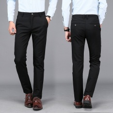 Men Business Casual Elastic Suit Pant Slim Non Iron Male Thin Trousers Intl Reviews