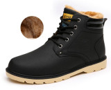 Where To Shop For Men Caramel Snow Boots Winter Working Martin Boots Black