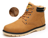 Men Caramel Snow Boots Winter Working Martin Boots Yellow On China