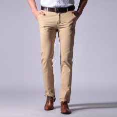Where Can You Buy Men Casual Business Straight Trousers Pant Pure Cotton Intl