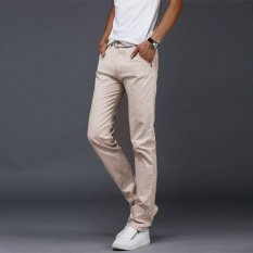 Men Casual Cotton Straight Pant Male Trousers Summer Long Pants Intl Promo Code