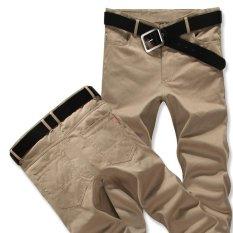 Cheapest Men Casual Long Pant Straight Cotton Trousers Plus Size Intl Online