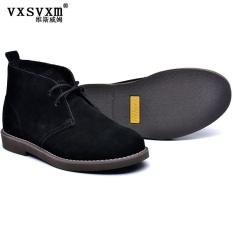 How Do I Get Men Casual Shoes Tooling Desert Boots Martin Boots 2929 Black